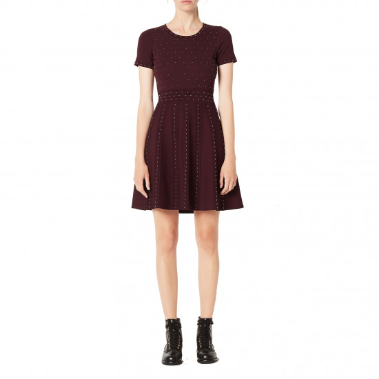 Sandro Montaigne Studded Knit Dress