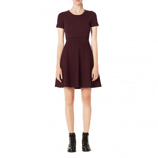 Sandro Montaigne Studded Knit Dress