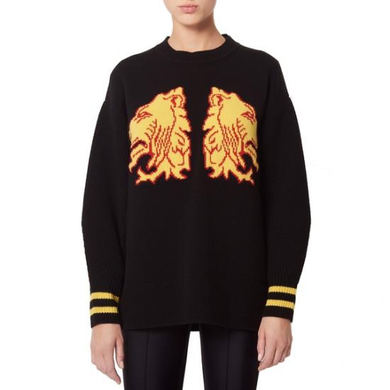 Sandro Ésar Lions Intarsia Sweater