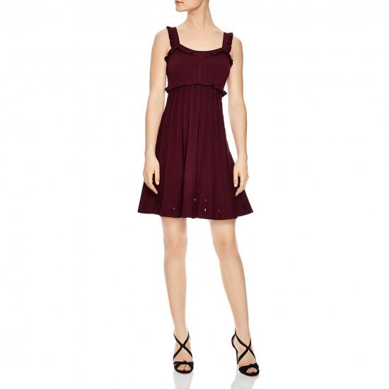 Sandro Silvi Ruffle Strap A-Line Dress