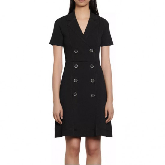 Sandro Double-Breasted Mini Dress