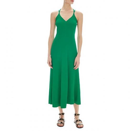 Sandro Terri Cutout Ribbed-Knit Midi Dress