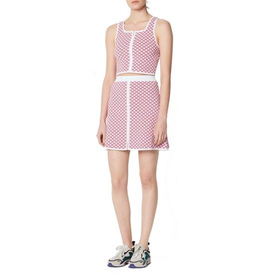 Sandro Twin Cropped Knit Top & Viviane Skirt