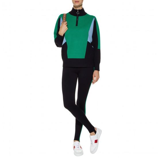 Sandro Wave 1 Ambitieux Zip-Up Colorblock Sweater