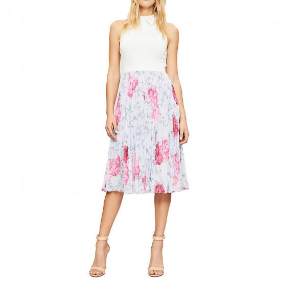 Ted Baker Cornala Babylon Pleated Skirt Dress