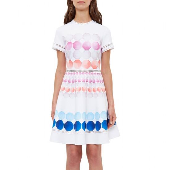 Ted Baker Myley Marina Mosaic Skater Dress