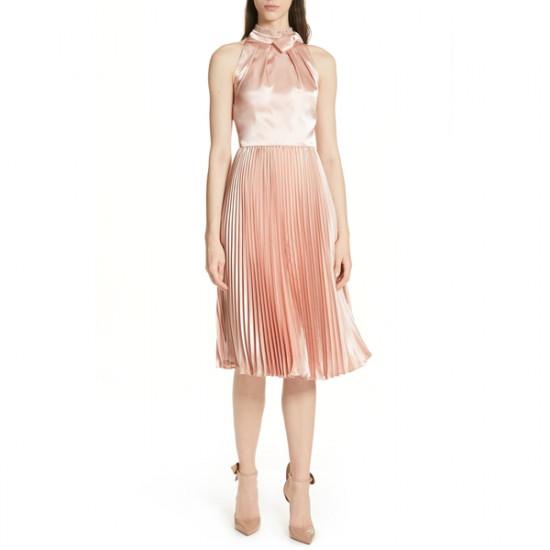 Ted Baker Shineey Bow Pleated Midi Dress