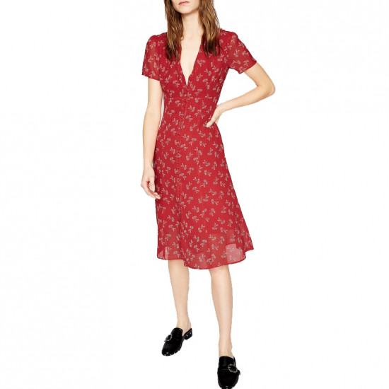 The Kooples Bloom Print Midi Dress