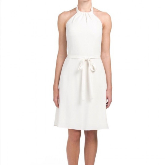 Theory Nayline Elevate Crepe Halter Dress