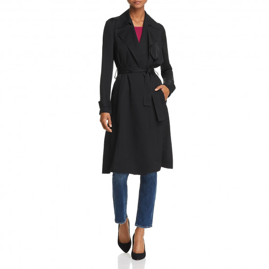 Theory Oaklane Silk Trenchcoat
