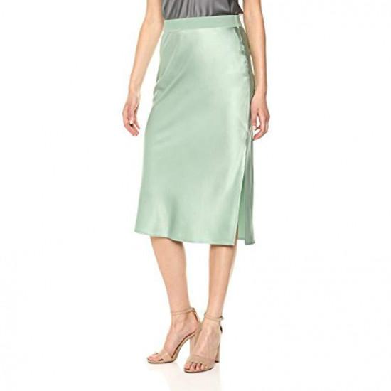 Theory Silk Satin Pull-On Skirt