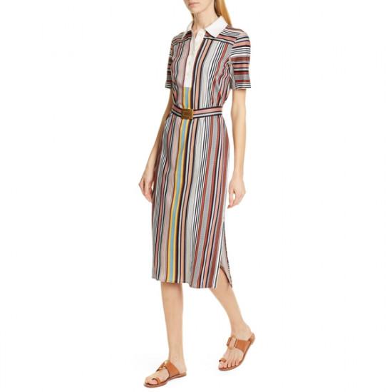 Tory Burch Striped Polo Dress