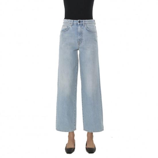 Totême Light Wash High-Waist Flared Jeans