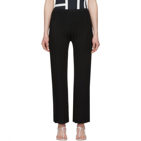 Toteme Cour Ribbed Knit Rayon Blend Pants