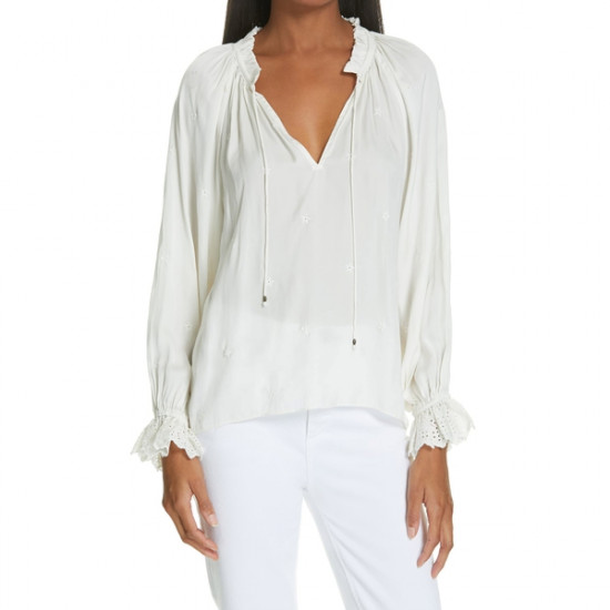 Ulla Johnson Irene Embroidered Blouse