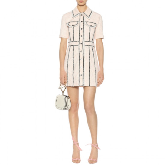 Veronica Beard Azra Cotton-Blend Mini Dress