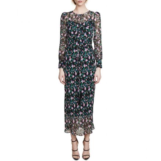 Veronica Beard Tatum Floral Midi Dress