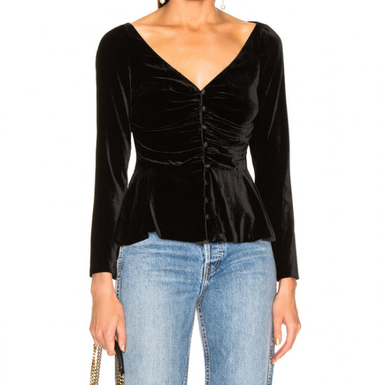 Veronica Beard Velvet Gage Top