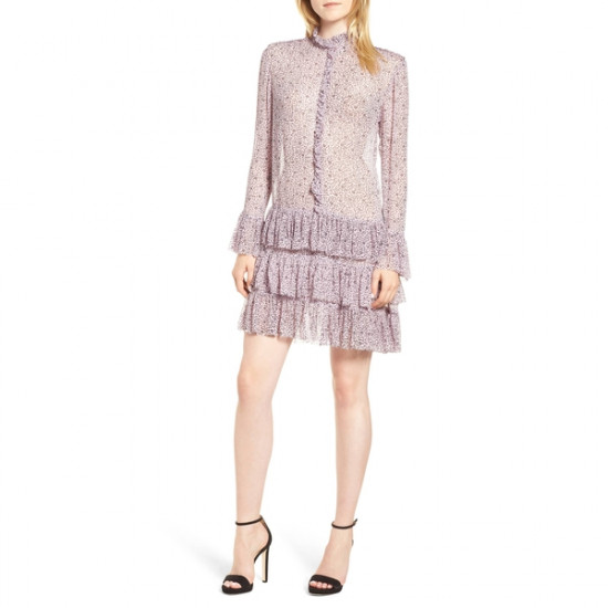 Zadig & Voltaire Rebbie Goa Ditsy Floral Drop-Waist Mini Dress
