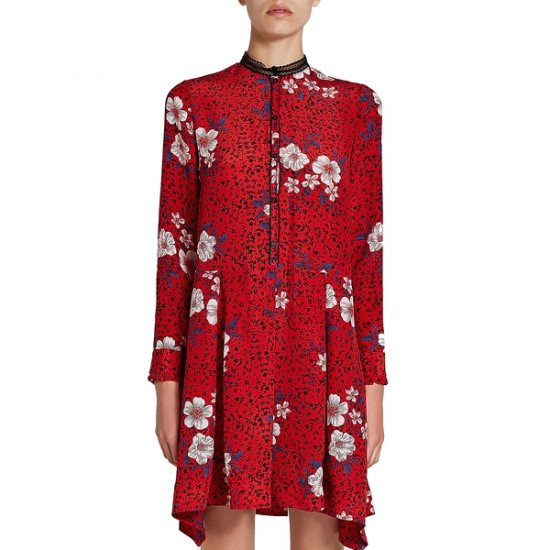 Zadig & Voltaire Ruti Pensee Floral Silk Dress