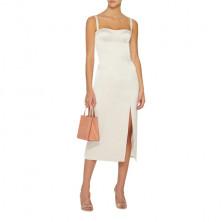 Alexis Yates Front Slit Midi Dress
