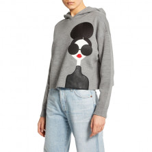 Alice+Olivia Wool-Blend Oscar Stace Face Hoodie