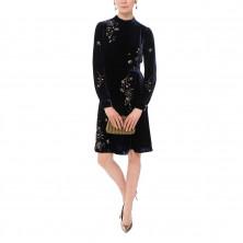 L.K. Bennett Che Embellished Velvet Dress