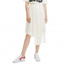 Maje Jaxy Asymmetric Pleated Skirt