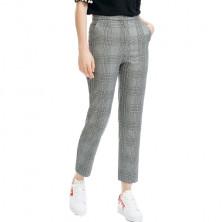 Maje Plino Check Straight Cropped Pants