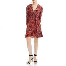 Maje Rosetto Leopard Wrap Dress