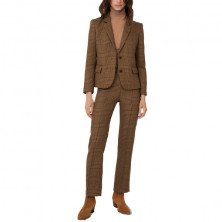 Maje Vedela Checked Fitted Suit Jacket