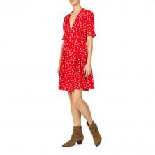 The Kooples Polka Dot Embellished Collar Dress