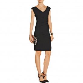 Diane von Furstenberg Bevin Ruched Stretch-Crepe Dress