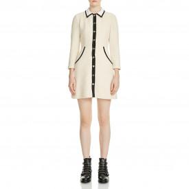 Maje Renalo Mini Tweed Shirt Dress