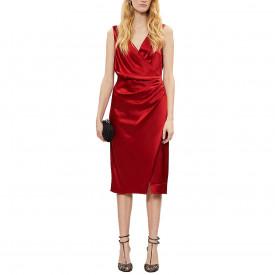 Reiss Lucine Satin Drape Cocktail Dress