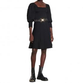 Sandro Ornela Square Neckline Smocked Dress