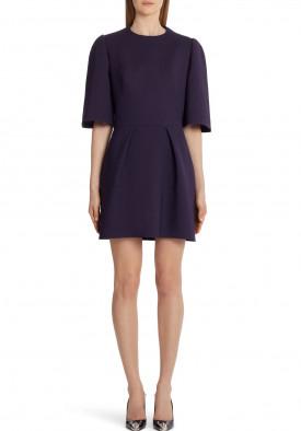 Alexander McQueen Puff Sleeve Wool Blend Minidress