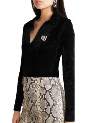 Alexander Wang Crystal-Embellished Chenille Sweater