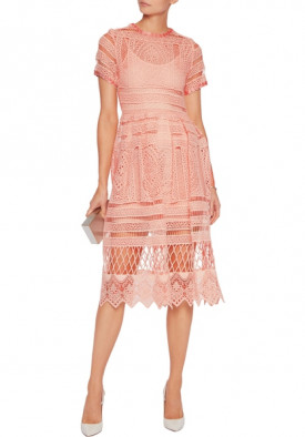 Alexis Alanna Macramé Lace Midi Dress