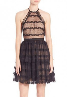 Alexis Coretta Ruffled Lace Halter Dress