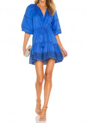 Alexis Daksha Puff-Sleeve Embroidered Cotton Mini Dress