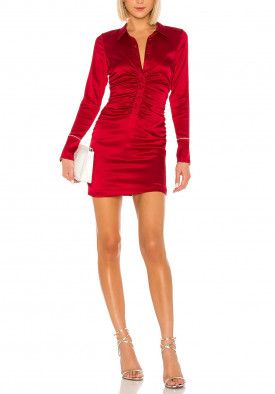 Alexis Jorja Silk Mini Shirt Dress