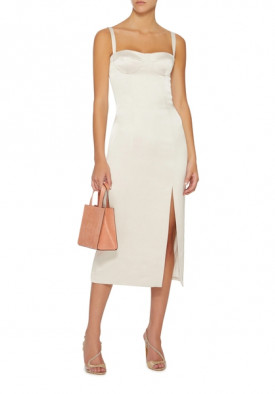Alexis Yates Front Slit Midi Dress