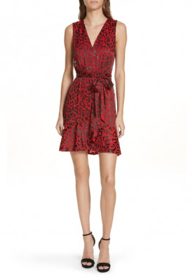 Alice + Olivia Brooks Animal Print Fit & Flare Dress
