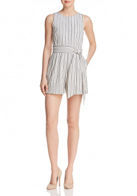 Alice + Olivia Melaine Striped Romper
