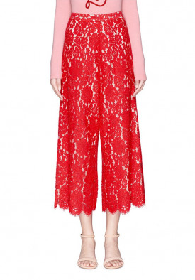 Alice + Olivia Olsen Floral Guipure Lace Culottes
