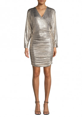 Alice + Olivia Pace Batwing Sleeve Party Dress