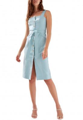 Aritzia Babaton Kofi Belted Button-Front Dress