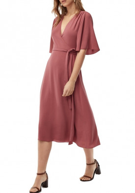Aritzia Wilfred Sabine Wrap Front Mini Dress