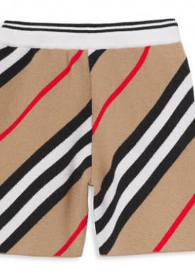 Burberry Kids Icon Stripe Merino Wool Knit Shorts